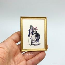 Постер, Прогулка, кукольная миниатюра 1:12