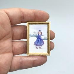 Постер, Девочка, кукольная миниатюра 1:12