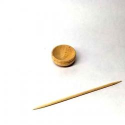 Миска деревянная. Кукольная посуда 1:12