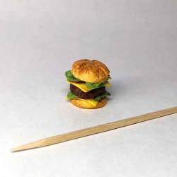 Гамбургер, кукольная миниатюра 1:12