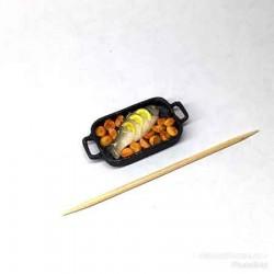 Рыбка с картошечкой и лимоном на противне, масштаб 1:12
