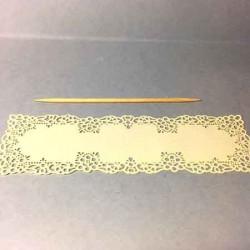 Салфетка декоративная ажурная, миниатюра