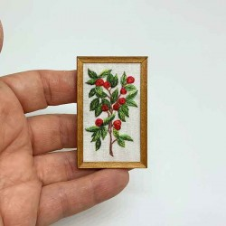 Картина. Вышивка. Ботаника. Миниатюра 1:12