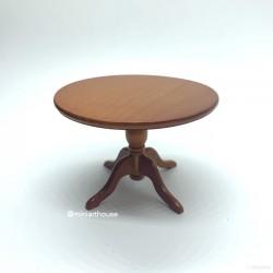 Стол круглый, кукольная миниатюра 1:12