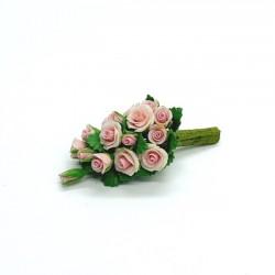 Букет розовых роз, масштаб 1:12