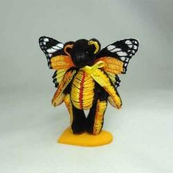 Мишка Брошка Бабочка Yellow