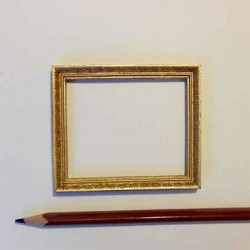 Рамка золотая, миниатюра 1:12