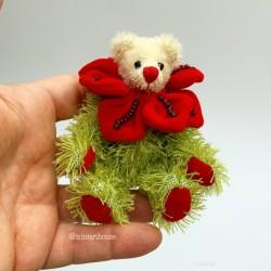 Red Rose Коллекционный мишка, ручная работа
