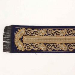 Ковровая дорожка синяя с орнаментом, миниатюра 1:12