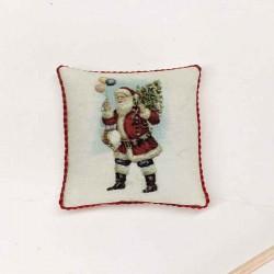 Подушечка Санта Клаус с подарками, миниатюра 1:12