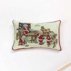 Подушечка Маленькие Санта Клаусы, миниатюра 1:12