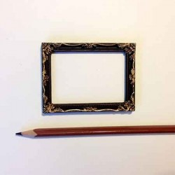 Рамка для картин темная с золотым декором, масштаб 1:12