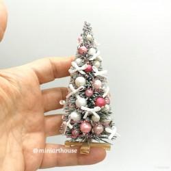Елочка Рождественская, Розовая, миниатюра 1:12