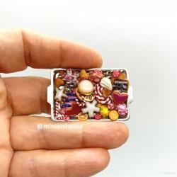 Печенье Рождественское 2, кукольная миниатюра 1:12