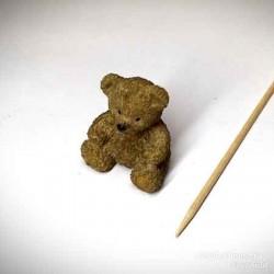 Мишка игрушка, миниатюра 1:12