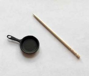 Сковородка маленькая, масштаб 1:12