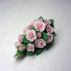 Букет невесты розовых роз, масштаб 1:12