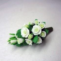 Букет невесты белых роз, масштаб 1:12