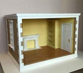 Румбокс Комната с камином, миниатюра 1:12