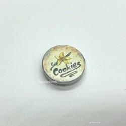Жестяная коробочка для печенья, круглая, кукольная миниатюра 1:12 1:12