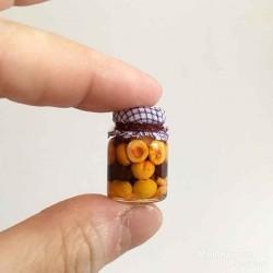 Компот из абрикосов со сливой, миниатюра 1:12