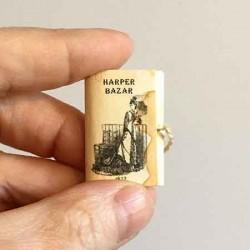 Журнал с выкройкой, винтажный в миниатюре 1:12