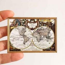 Карта мира, кукольная миниатюра 1:12