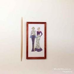Постер Мода, кукольная миниатюра 1:12