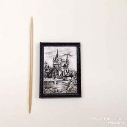 Графика, Замок, постер, кукольная миниатюра 1:12