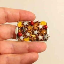Печенье Рождественское, кукольная миниатюра 1:12
