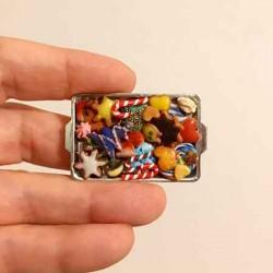Печенье Рождественское 1, кукольная миниатюра 1:12