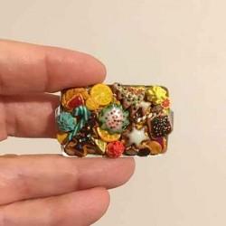Печенье Рождественское 4, кукольная миниатюра 1:12