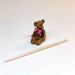 Статуэтка Мишка с бантиком, миниатюра 1:12