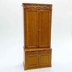 Шкаф высокий, кукольная миниатюра, масштаб 1:12