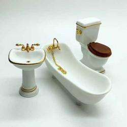 Гарнитур для ванной, масштаб 1:12