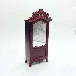 Шкаф с зеркалом, кукольная миниатюра, масштаб 1:12