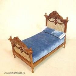 Кровать, миниатюра 1:12