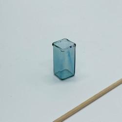 Ваза из стекла, кукольная миниатюра 1:12