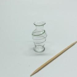 Ваза из стекла, кукольная миниатюра, масштаб 1:12