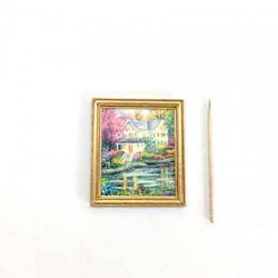 Дом у реки, постер, кукольная миниатюра 1:12