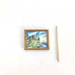 Дом у моря, постер, кукольная миниатюра