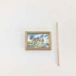 Дом и маяк, постер, кукольная миниатюра