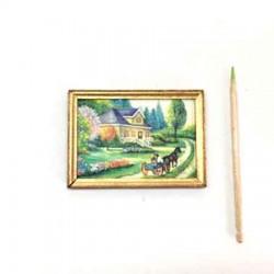 Пейзаж, постер, кукольная миниатюра 1:12