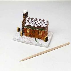 Статуэтка Пряничный домик, кукольная миниатюра 1:12