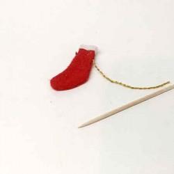 Рождественский носок, кукольная миниатюра 1:12