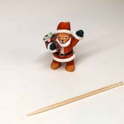 Мишка Санта, Santa Bear кукольная миниатюра 1:12