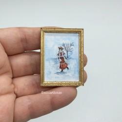 Постер, кукольная миниатюра 1:12