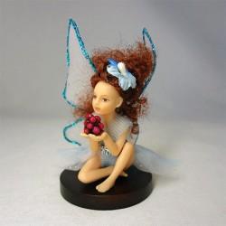 Кукла Фея с ягодами, миниатюра