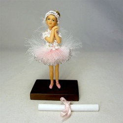 Кукла Балерина, миниатюра 1:12