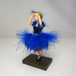 Куколка Балерина в синем, миниатюра